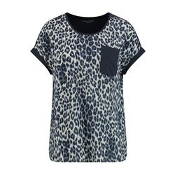 Gerry Weber Leopard Prnt Top With Pocket Detail Blue