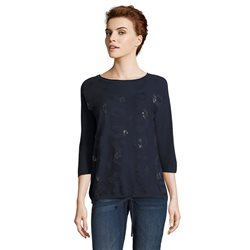 Betty Barclay Embellished Top Navy