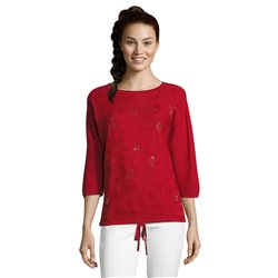 Betty Barclay Embellished Top Red
