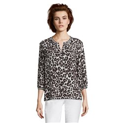 Betty & Co Animal Print Top Cream
