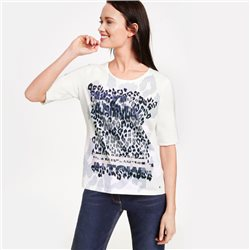 Gerry Weber Leopard Front Top Cream