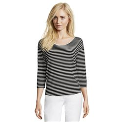 Betty & Co Striped Top Black