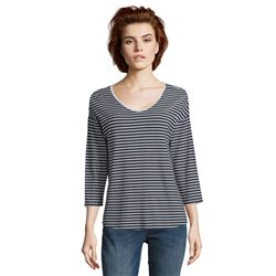 Betty & Co Striped Top Navy