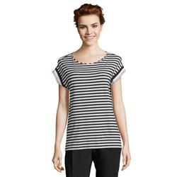 Betty & Co Striped T Shirt Black