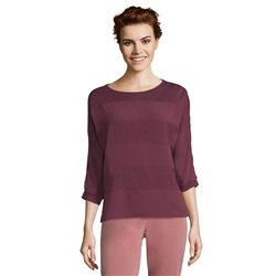 Betty & Co Block Stripe Casual Top Purple