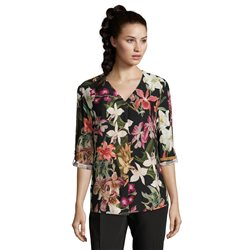 Betty & Co Floral Print Blouse Black