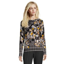 Betty Barclay Floral Fine Knit Jumper Black