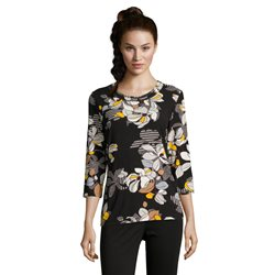 Betty Barclay Floral Print Top Black