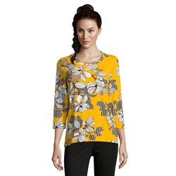 Betty Barclay Floral Print Top Yellow