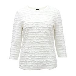 Lebek Ruffle Detail Top Off White