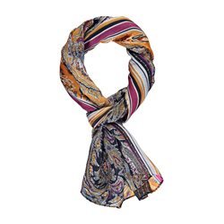Gerry Weber Paisley Print Scarf Navy