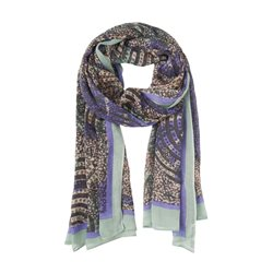 Sandwich Colourful All Over Print Scarf Green