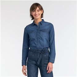 Sandwich Denim Shirt Denim Blue
