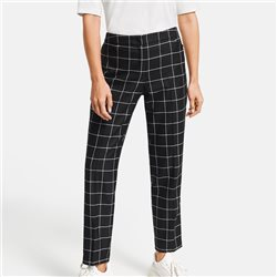 Taifun Check Pattern Trouser Black