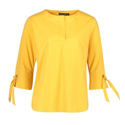 Betty Barclay 3/4 Sleeve Blouse With Tie Detail Yellow