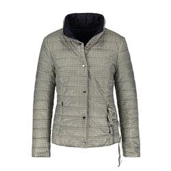 Gerry Weber Quilted Jacket With Check Print Blue And Green
