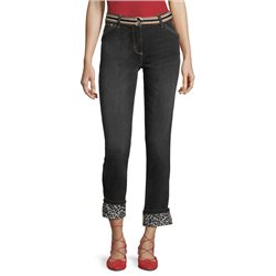 Betty Barclay Modern Fit Jeans With Aniaml Print Black