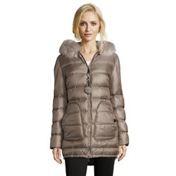 Betty Barclay Quilted Down Jacket Taupe