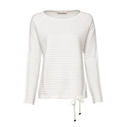 Monari Ribbed Jumper With Tie Detail Cream