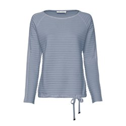 Monari Ribbed Jumper With Tie Detail Light Blue