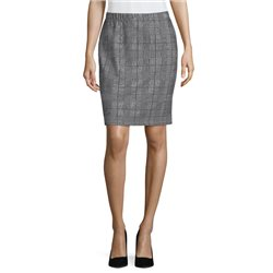 Betty & Co Checked Skirt Black