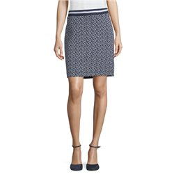 Betty & Co Textured Jersey Skirt Navy