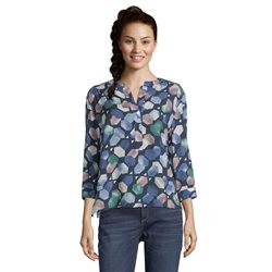 Betty & Co Graphic Print Blouse Blue