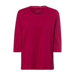 Olsen Long Sleeve Crew Neck Top Red