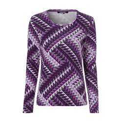 Olsen Full Sleeve With Geometric Print Design Purple