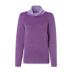 Olsen Roll Neck Jumper With Waffle Texture Violet