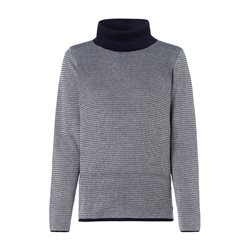 Olsen Roll Neck Jumper With Waffle Texture Navy