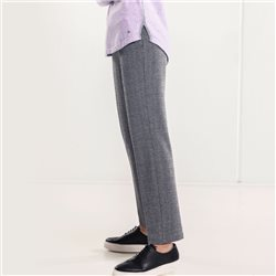 Olsen Trousers With Glencheck Pattern Black