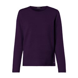 Olsen Round Neck Jumper With Ribbed Texture Purple