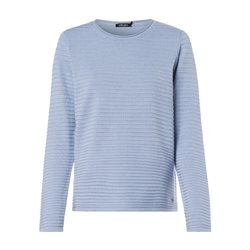 Olsen Round Neck Jumper With Ribbed Texture Blue
