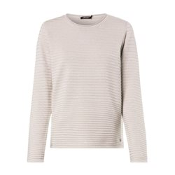 Olsen Round Neck Jumper With Ribbed Texture Cream