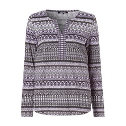 Olsen Open Neck Top With Missoni Inspired Print Lilac