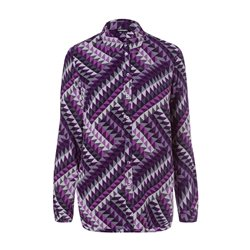 Olsen Geometric Print Blouse Purple