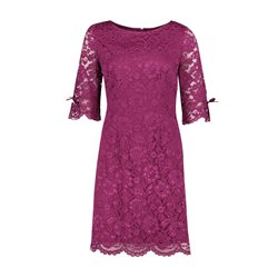 Vera Mont Lace Bow Detail Dress Purple