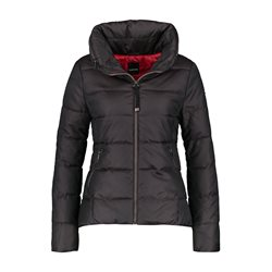 Taifun Quilted Coat With Concealed Hood Wine