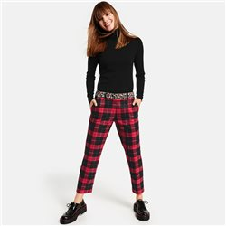 Taifun 7/8 Trouser In Check Design Red