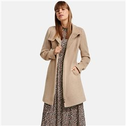 Taifun Short Coat With Stand Collar Beige
