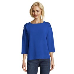 Betty Barclay Button Trimmed Top Royal