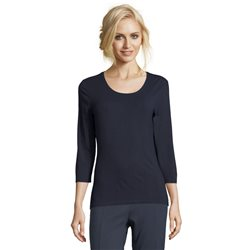 Betty Barclay Plain T Shirt Top Navy