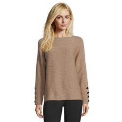 Betty Barclay Fine Ribbed Jumper Taupe