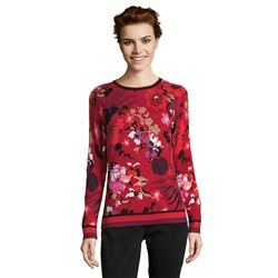 Betty Barclay Floral Print Jumper Red