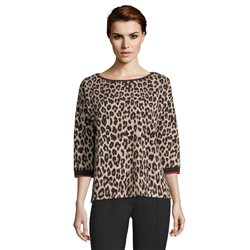 Betty Barclay Animal Print Jumper Brown
