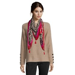 Betty Barclay Animal Print Scarf Red
