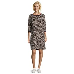 Betty Barclay Animal Print Dress Brown