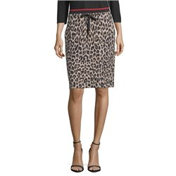 Betty Barclay Animal Print Skirt Brown