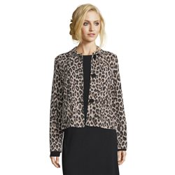 Betty Barclay Animal Print Jacket Brown